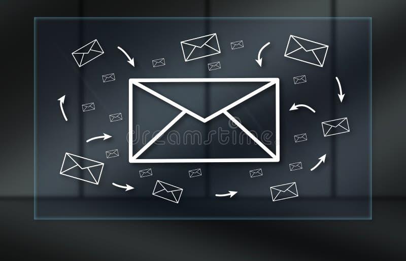 电子邮件的概念 库存图片