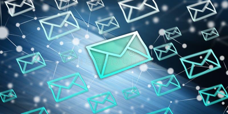 电子邮件的概念 向量例证