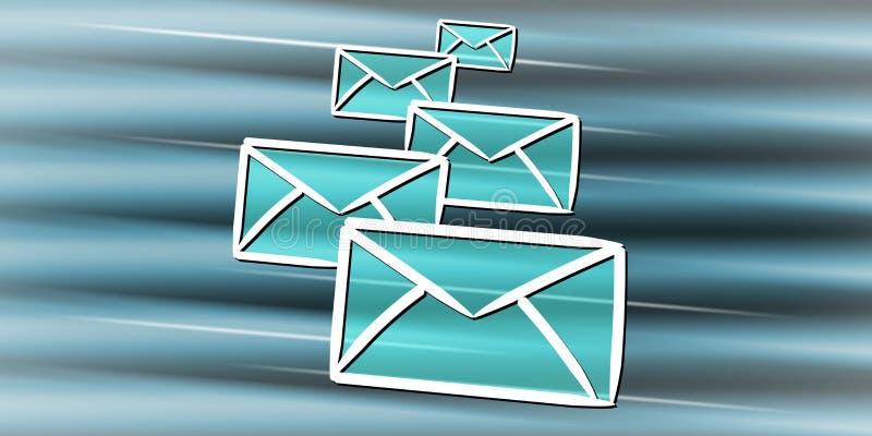 电子邮件的概念 库存例证