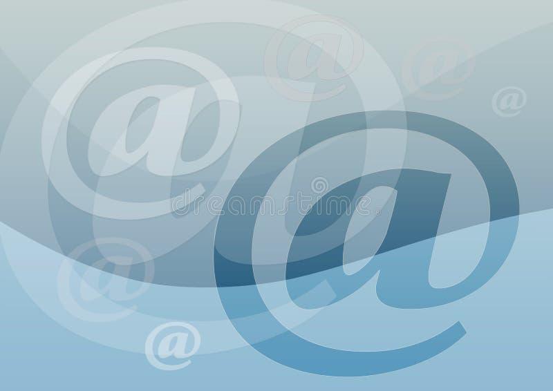 电子邮件符号 库存例证