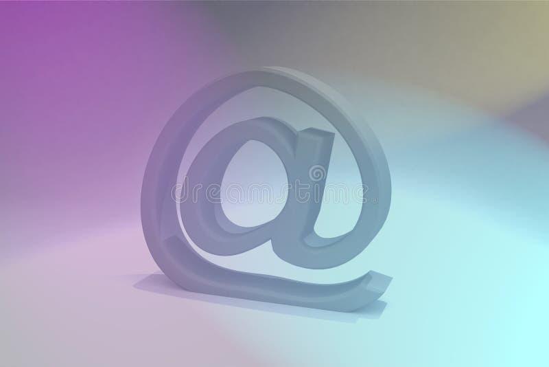 电子邮件符号 皇族释放例证