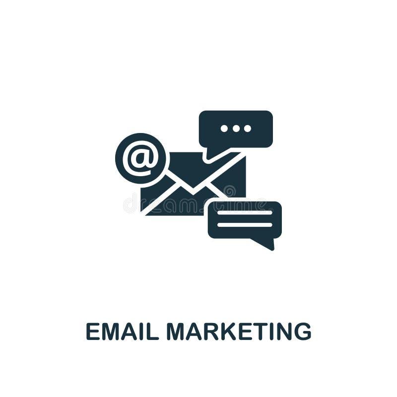 电子邮件营销创造性的象 简单的元素例证 电子邮件营销概念从网上销售的收藏的标志设计 向量例证