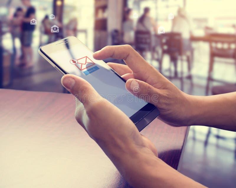 电子邮件营销和时事通讯概念 库存图片