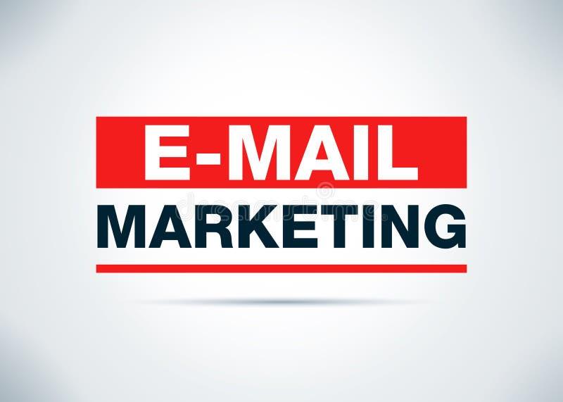 电子邮件营销摘要平的背景设计例证 库存例证
