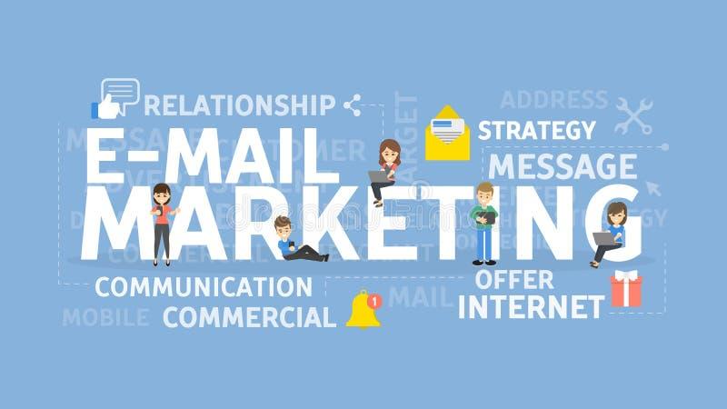 电子邮件营销概念 库存例证