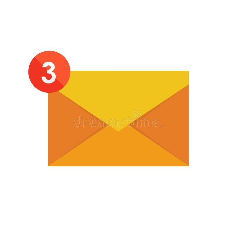 电子邮件营销 邮箱和信封围拢与通知由象 皇族释放例证