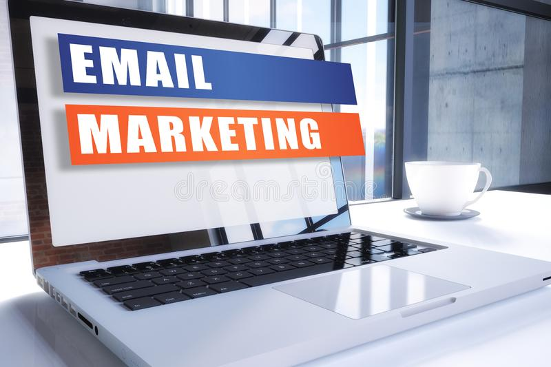 电子邮件营销 皇族释放例证