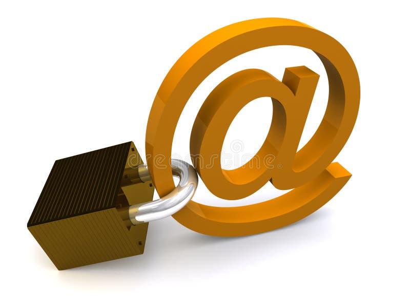 电子邮件证券 向量例证
