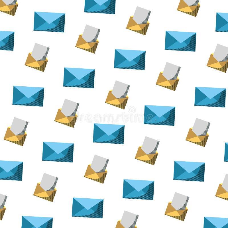 电子邮件通信文件消息背景 库存例证