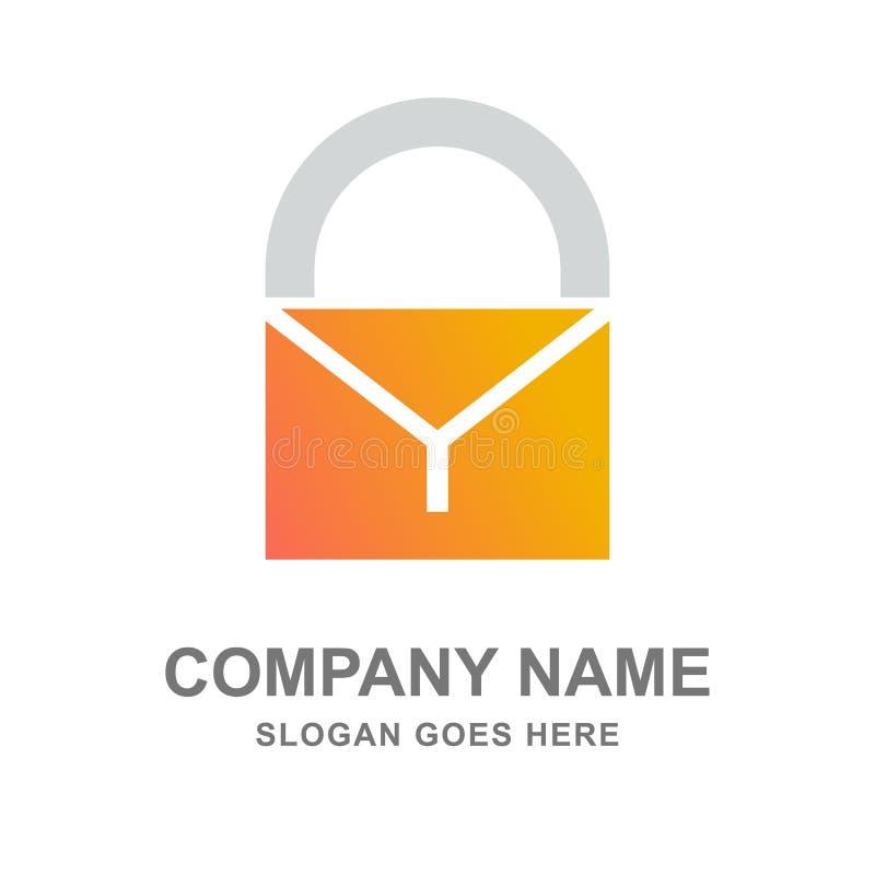 电子邮件邮件互联网安全商标 免版税库存照片