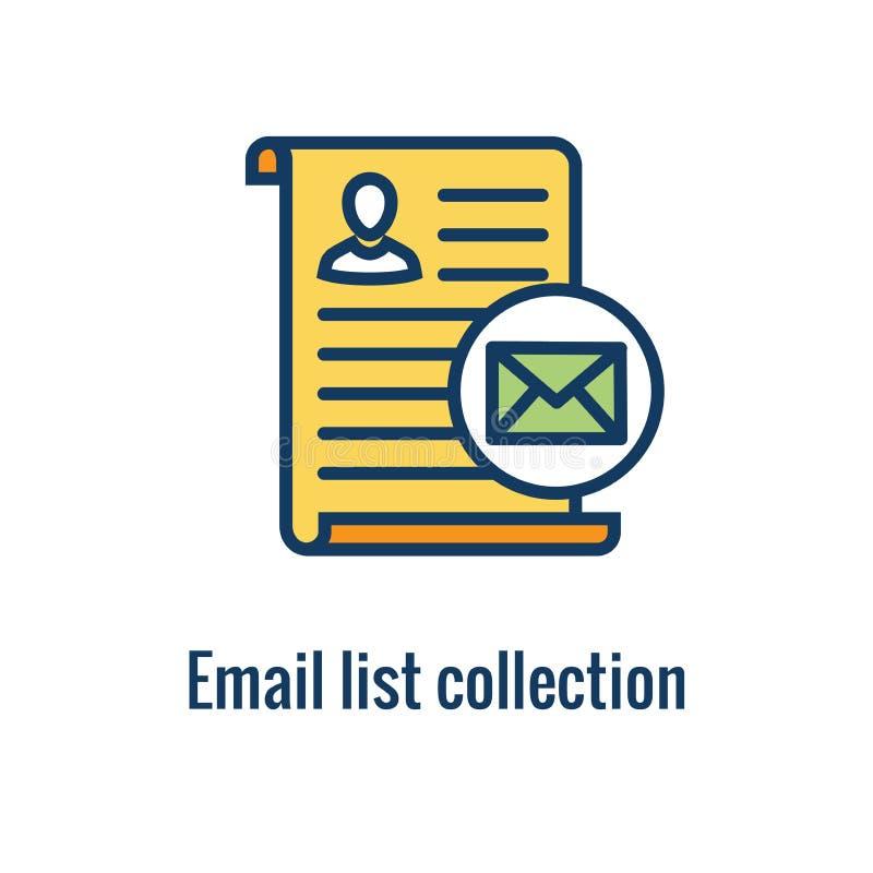 电子邮件销售的规则&章程象有电子邮件名单汇集想法 皇族释放例证