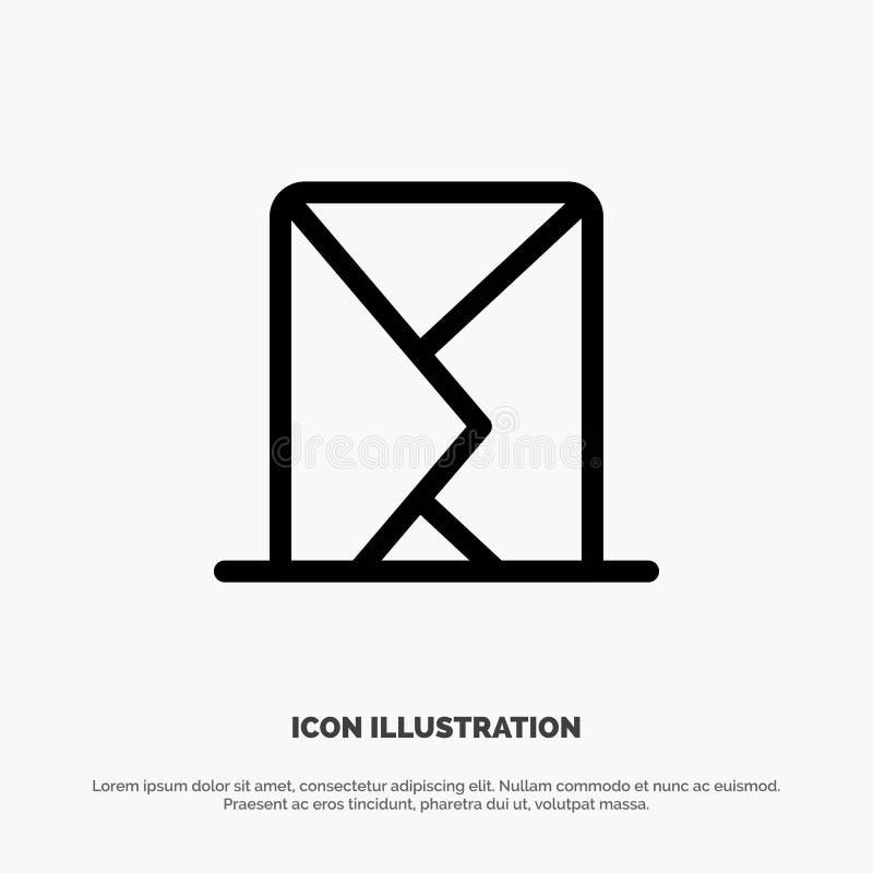 电子邮件,信封,邮件,信息,传送线象传染媒介 库存例证