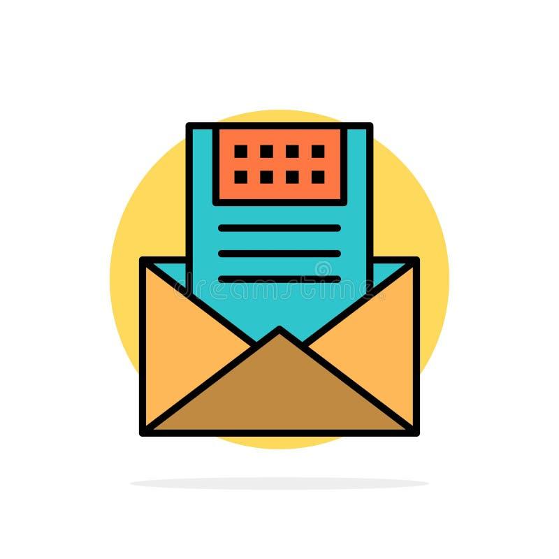 电子邮件,通信,电子邮件,信封,信件,邮件,消息摘要圈子背景平的颜色象 皇族释放例证