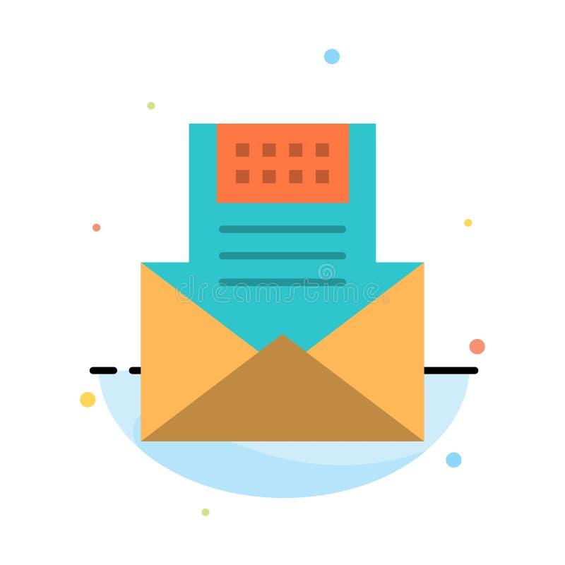 电子邮件,通信,电子邮件,信封,信件,邮件,消息摘要平的颜色象模板 皇族释放例证