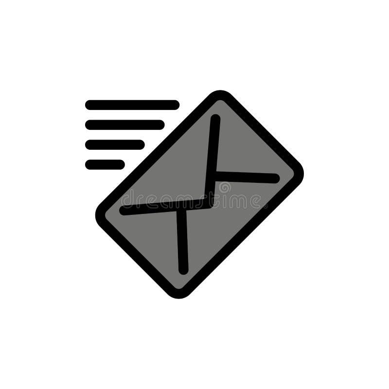 电子邮件,邮件,信息,传送平的颜色象 传染媒介象横幅模板 皇族释放例证