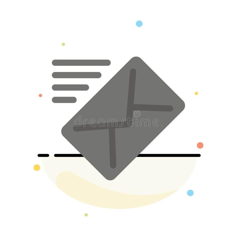 电子邮件,邮件,信息,传送抽象平的颜色象模板 皇族释放例证