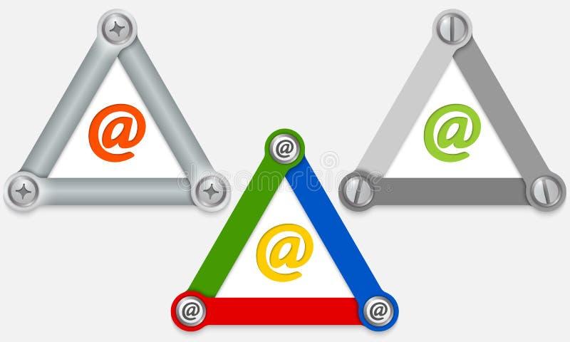 电子邮件包围图标邮件开放接受 向量例证