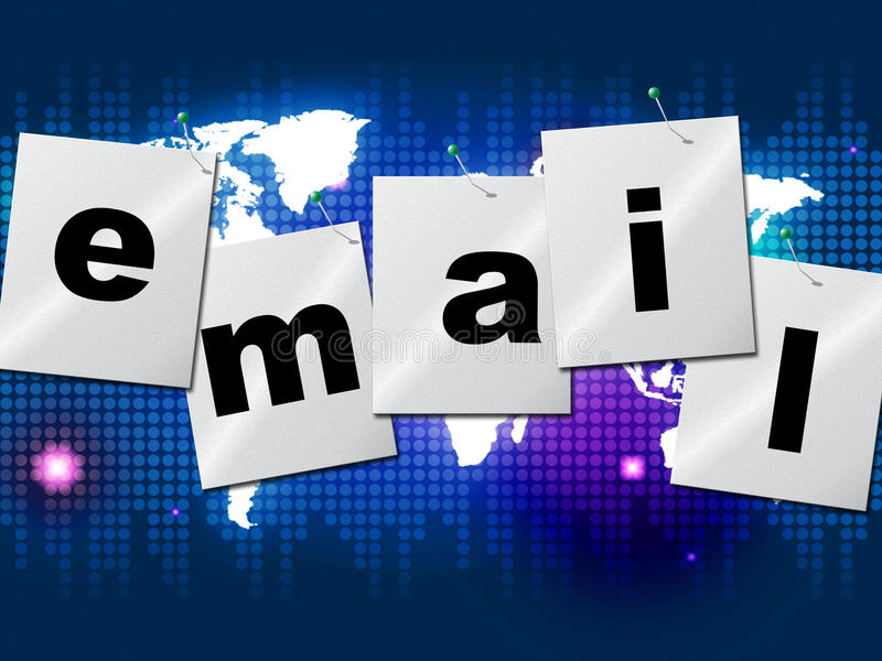 电子邮件发电子邮件表明传送信息并且沟通 向量例证