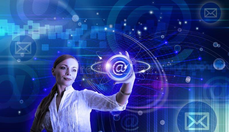 电子邮件和互联网概念性例证 向量例证