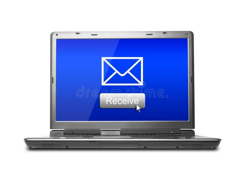 电子邮件接受 皇族释放例证