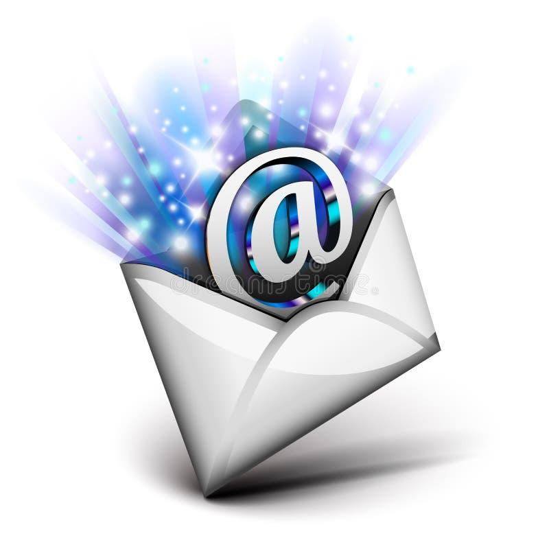 电子邮件放热 皇族释放例证