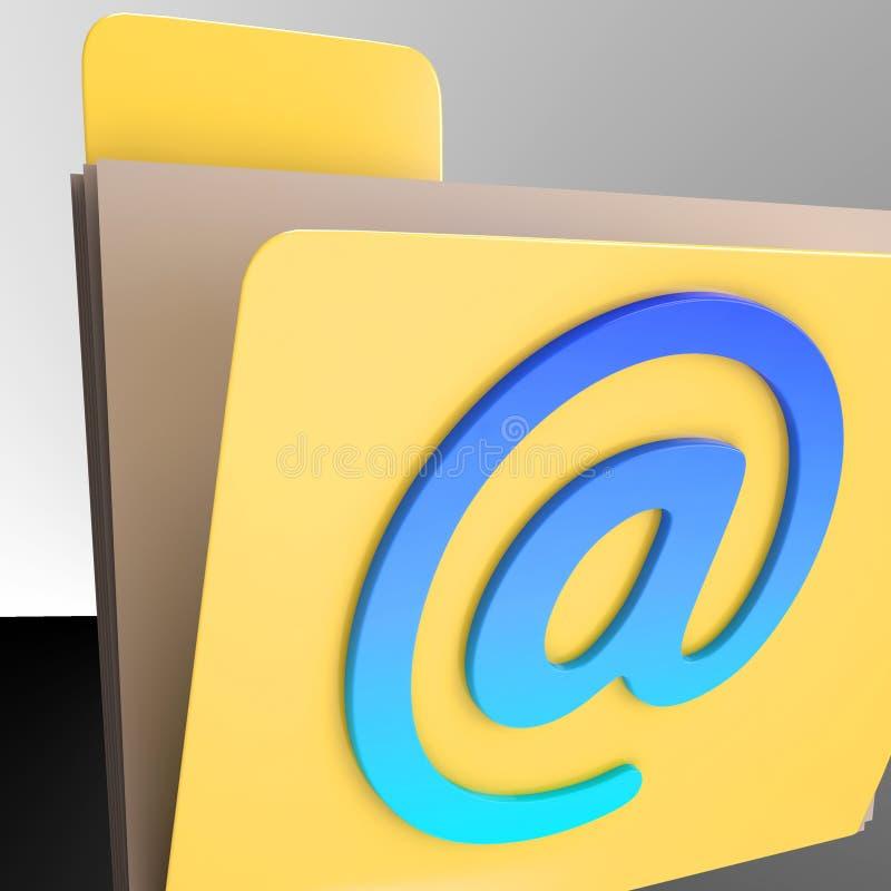 电子邮件文件夹显示网上邮寄的Inbox文件 皇族释放例证