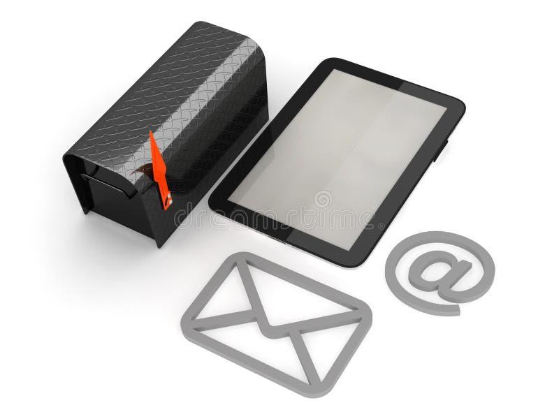 电子邮件概念例证 皇族释放例证