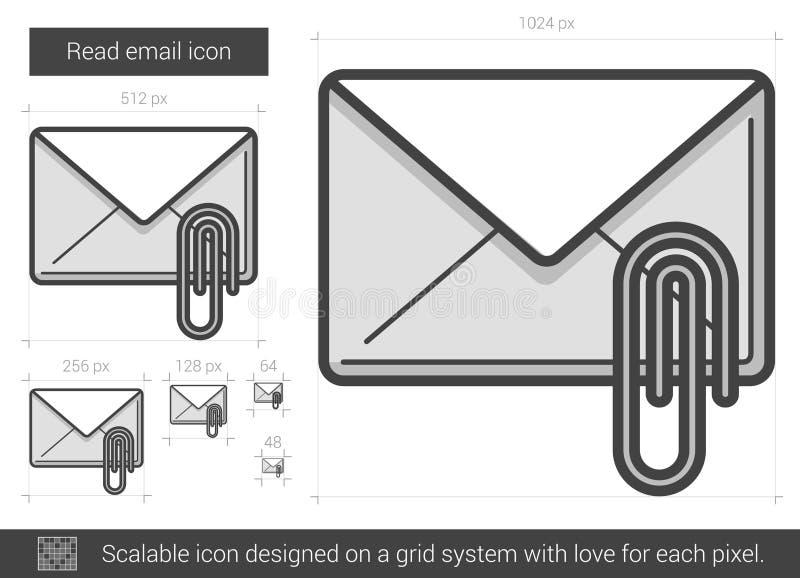 读电子邮件线象 向量例证