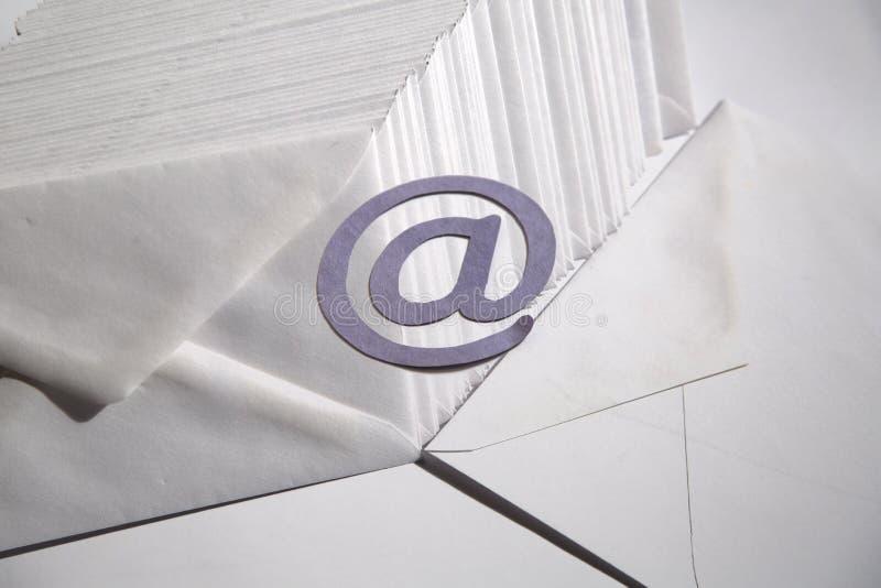 电子邮件背景 免版税库存照片