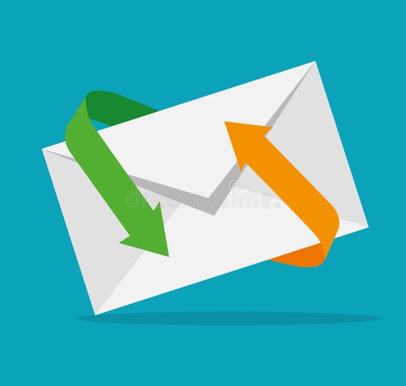 电子邮件营销设计 库存例证