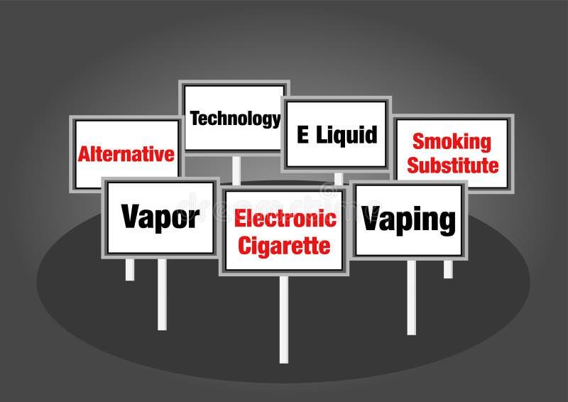 电子香烟标志 库存照片