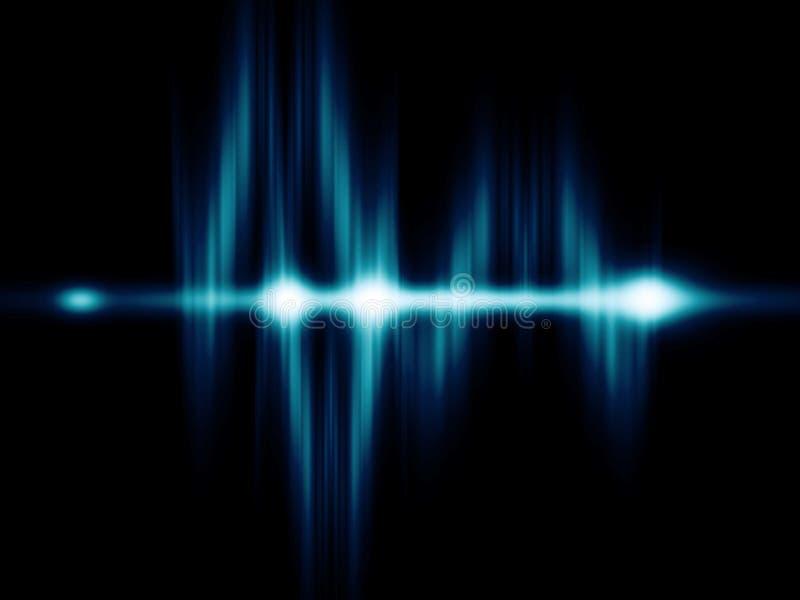 电子Partical波浪 库存例证
