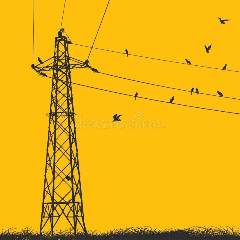 电定向塔 库存例证
