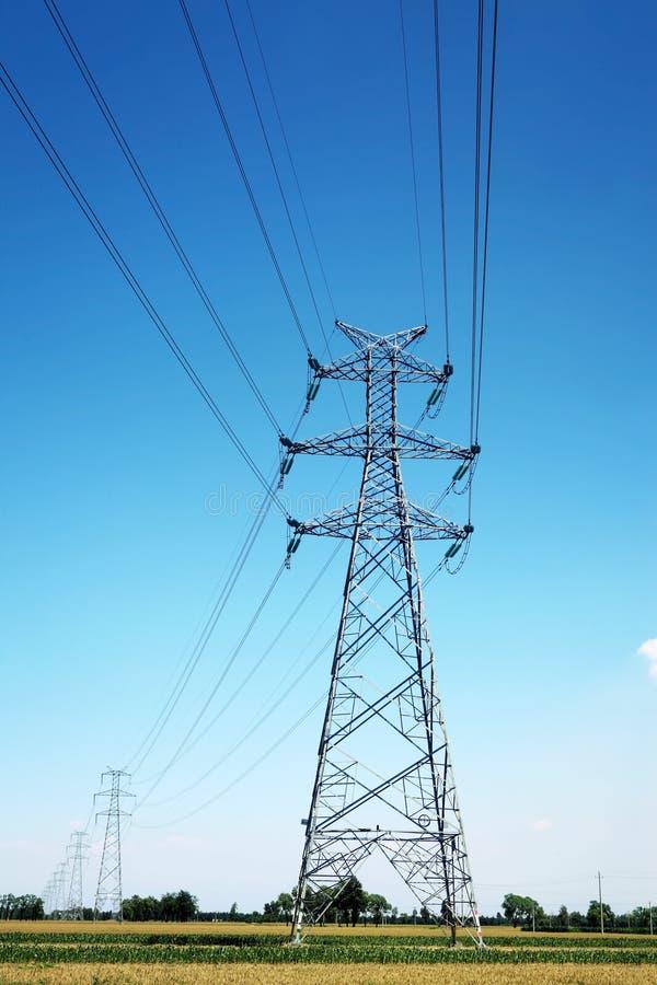 电定向塔 免版税库存图片