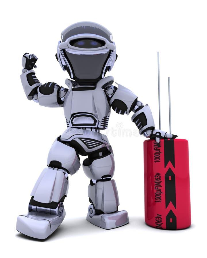 电容器机器人 皇族释放例证