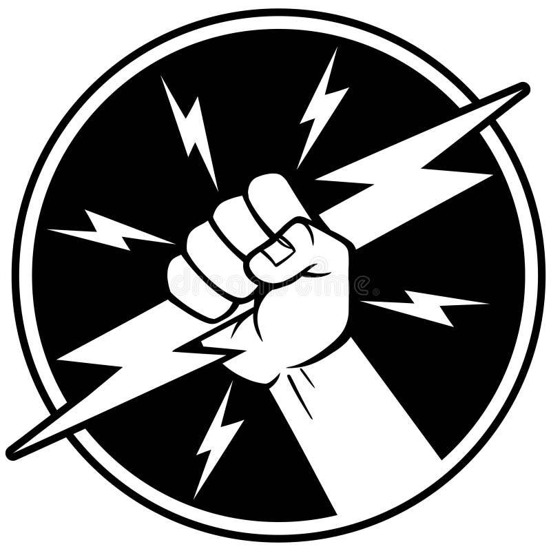 电工标志 皇族释放例证
