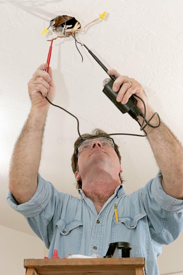 电工测试电压 免版税库存图片