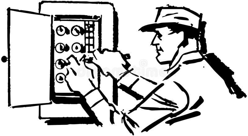 电工电评定的工作 皇族释放例证