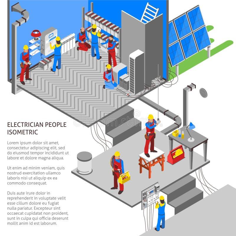 电工等量构成 皇族释放例证