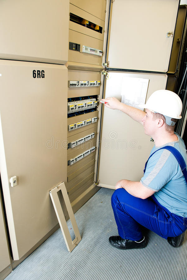电工 库存照片