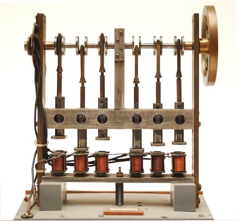 电引擎蒸汽 免版税图库摄影