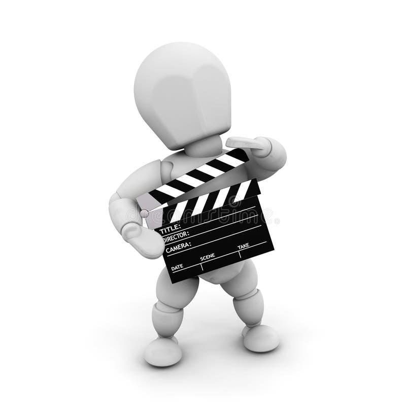 电影人员 库存例证