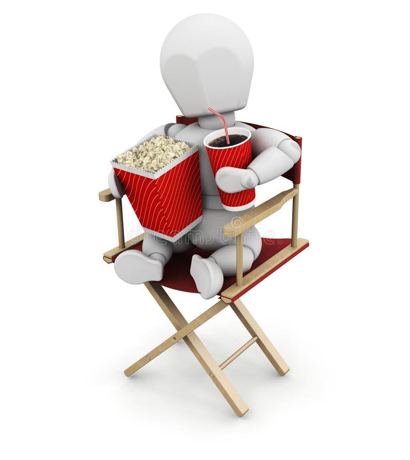 电影人员 向量例证