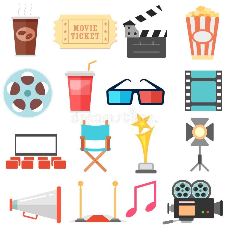 电影和影片象集合 向量例证