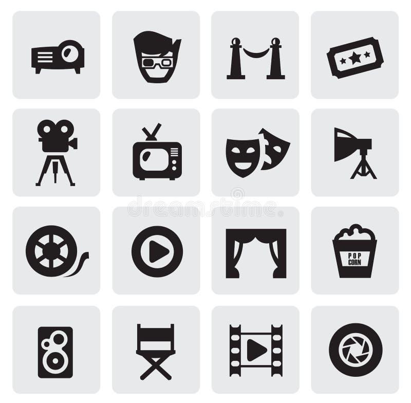 电影图标 库存例证