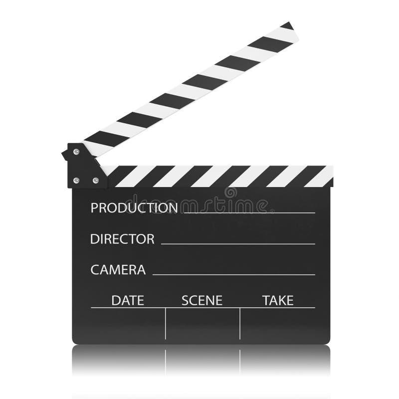电影在白色背景隔绝的拍板 向量例证