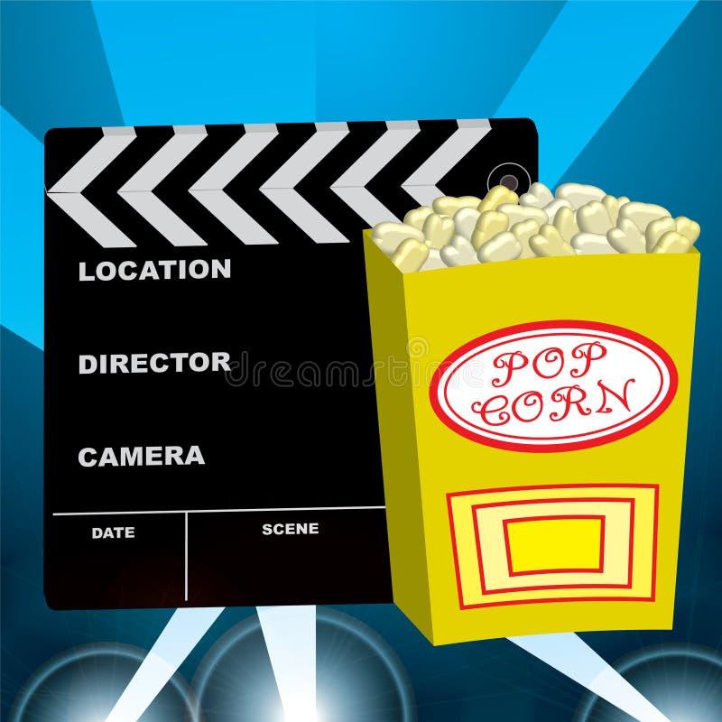 电影场面 向量例证