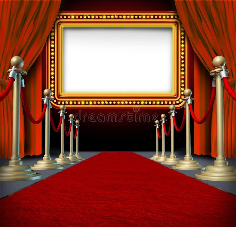 电影大门罩符号 向量例证