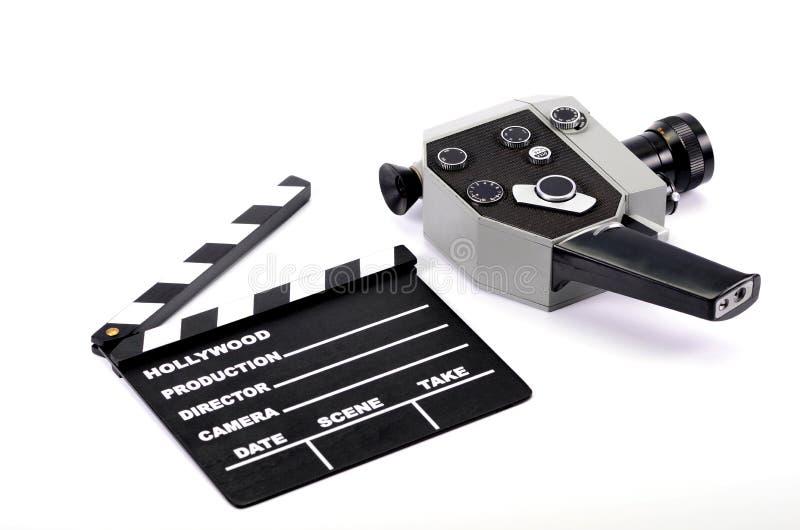 电影工业和影片生产概念 免版税库存图片