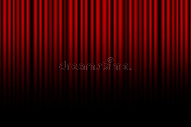 电影或剧院窗帘 库存例证